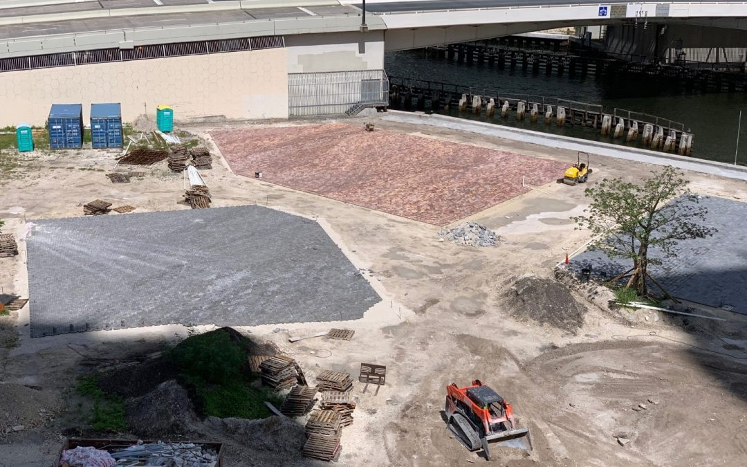 CONSTRUCTION UNDERWAY AT RIVERSIDE IN BRICKELL, WILL INCLUDE RESTAURANTS & BREWERY WITH SEATING FOR THOUSANDS