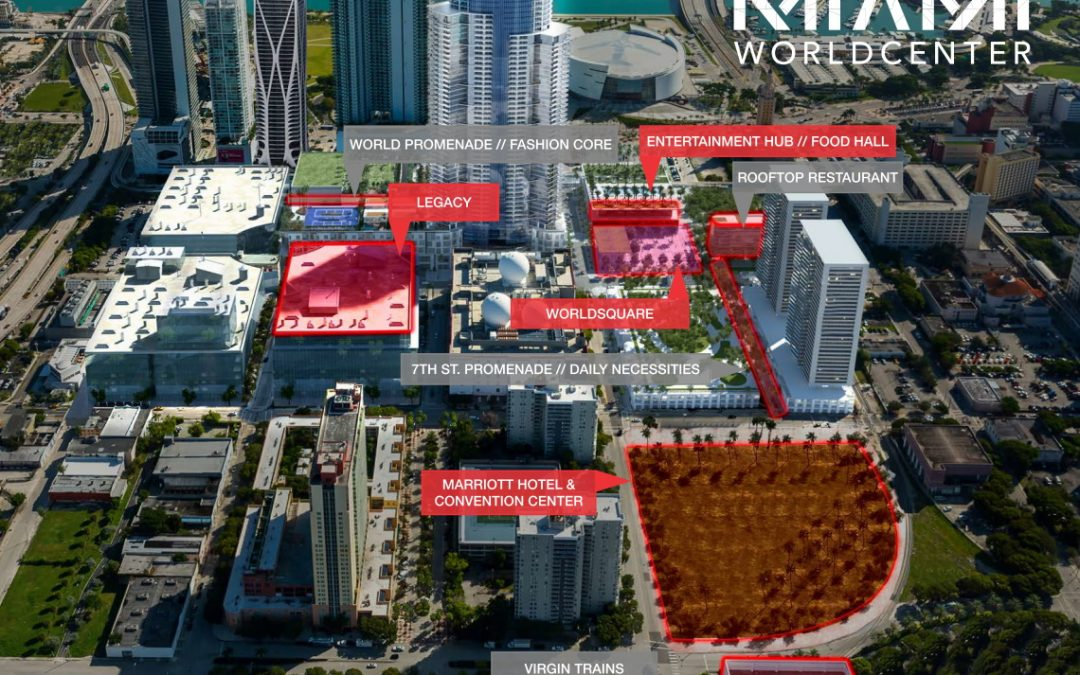 MIAMI WORLDCENTER PLANNING TO BUILD AN ENTERTAINMENT HUB, FOOD HALL & ROOFTOP RESTAURANT